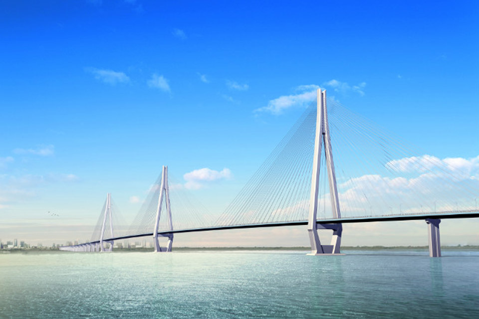 Wuhan erqi Yangtze river bridge<br />